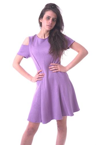 vestito gonna mezza ruota lilla agostyle (15)