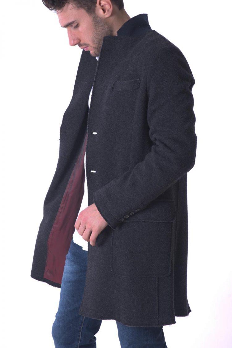 Foto cappotto lana uomo grigio abbigliamento lana cotta