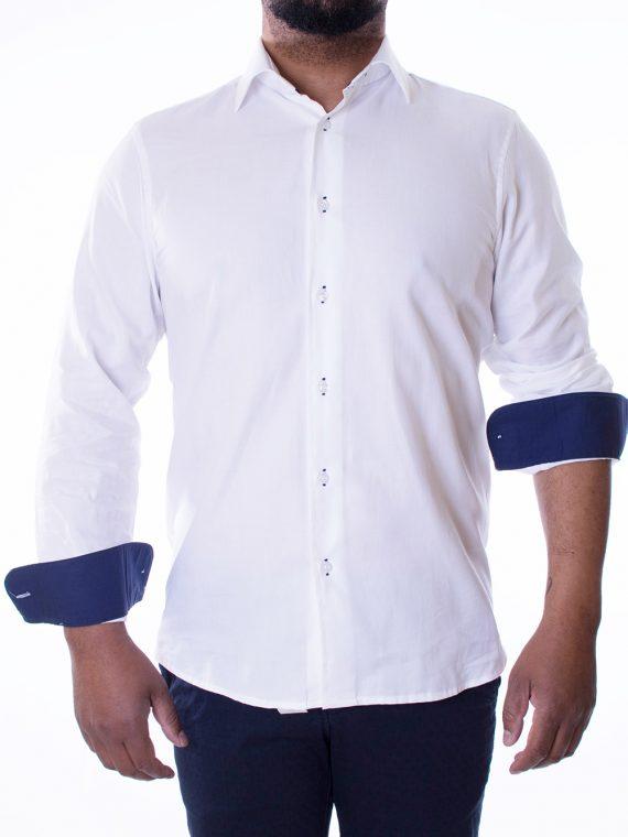 Camicia Uomo Bianca in Cotone tela Oxford 1