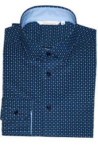 Camicia Uomo Blu Elettrico Punto Cravatta 2