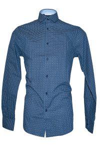 Camicia Uomo Blu Elettrico Punto Cravatta 8