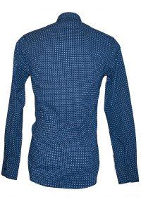 Camicia Uomo Blu Elettrico Punto Cravatta 6