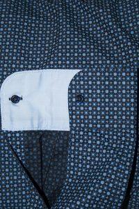 Camicia Uomo Blu Elettrico Punto Cravatta 3