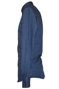 Camicia Uomo Blu Punto Cravatta motivo Puntini L chiaro scuri 2