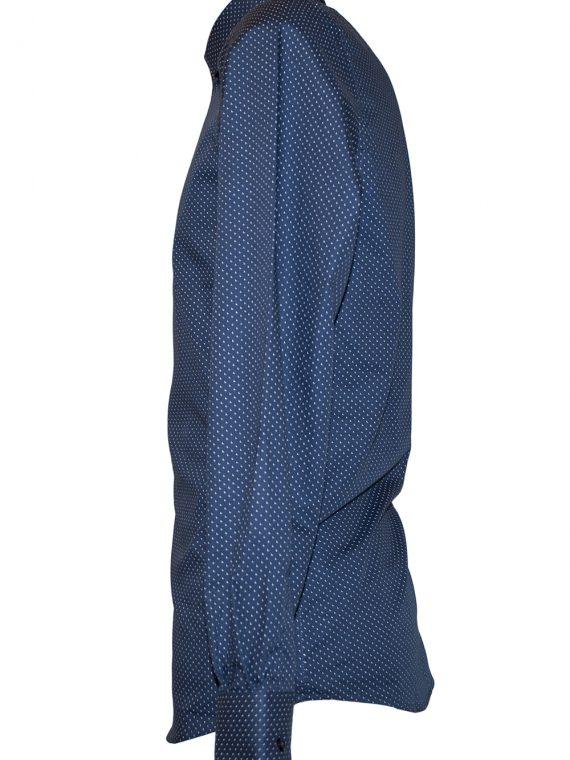 Camicia Uomo Blu Punto Cravatta motivo Puntini L chiaro scuri