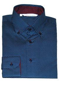 Camicia Uomo Blu Punto Cravatta motivo Puntini L chiaro scuri 4
