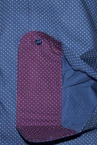 Camicia Uomo Blu Punto Cravatta motivo Puntini L chiaro scuri 3