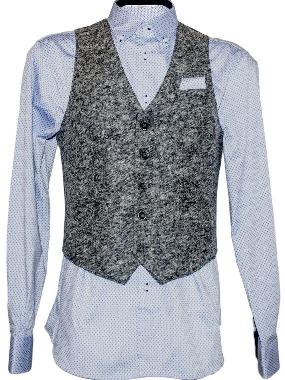 Camicia Uomo Celeste Punto Cravatta motivo Cerchio