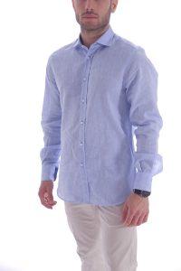 Camicia azzurra artigianale made in italy (3)