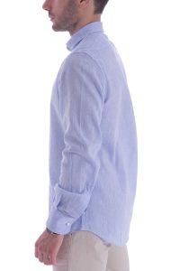 Camicia azzurra artigianale made in italy (4)