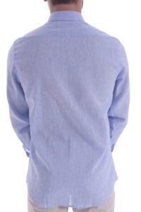 Camicia azzurra artigianale made in italy (5)