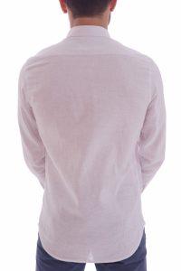 Camicia lino artigianale su misura 100% italiano Lino slim sfiancata matrimonio (1)