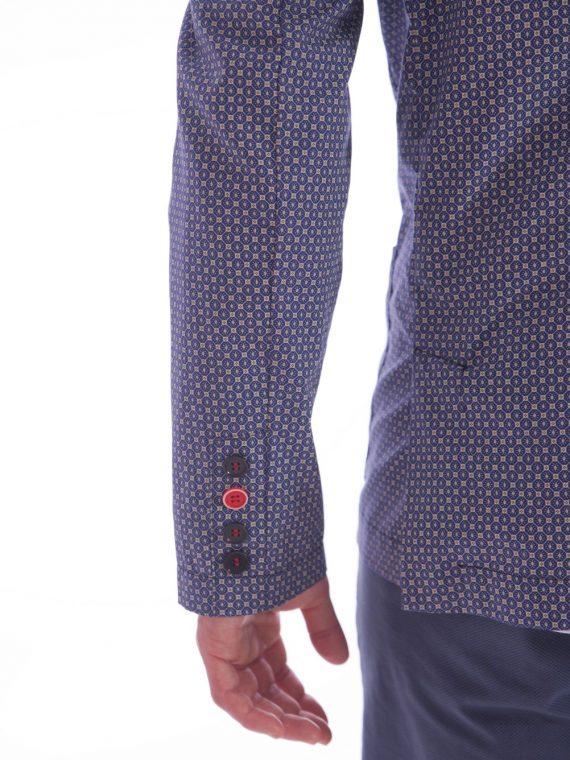 Camicia oro blu sartoriale qualità leggera estiva (7)