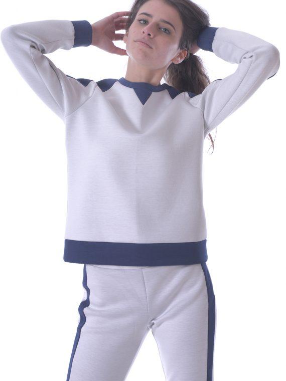 Pantalone donna neoprene bianco