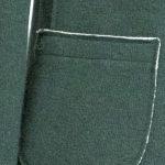 Giacca Donna lana e cotone Verde Acqua taglio vivo