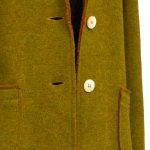 Giacca Donna lana e cotone non foderata Verde Oliva taglio vivo