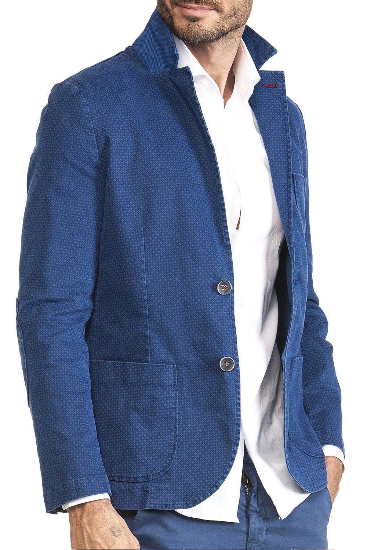 super popolare f73f1 8910c Giacca Uomo Blu Elettrico Punto Cravatta Scuro Cotone