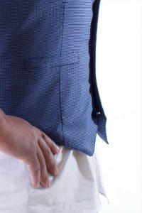Gilet Uomo 5 bottoni Blu e bianco Oxford 100% Cotone - AgosSyle.it edcc8da04905