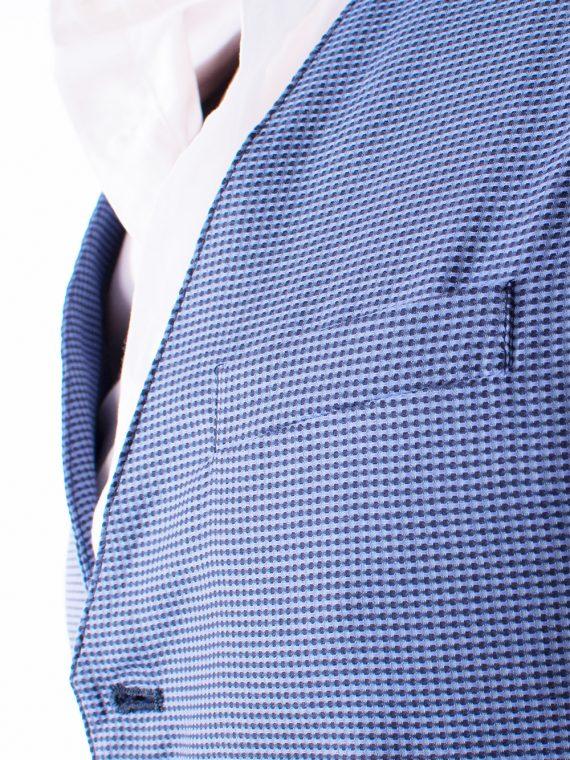 Gilet Uomo 5 bottoni Blu e bianco Oxford 100% Cotone