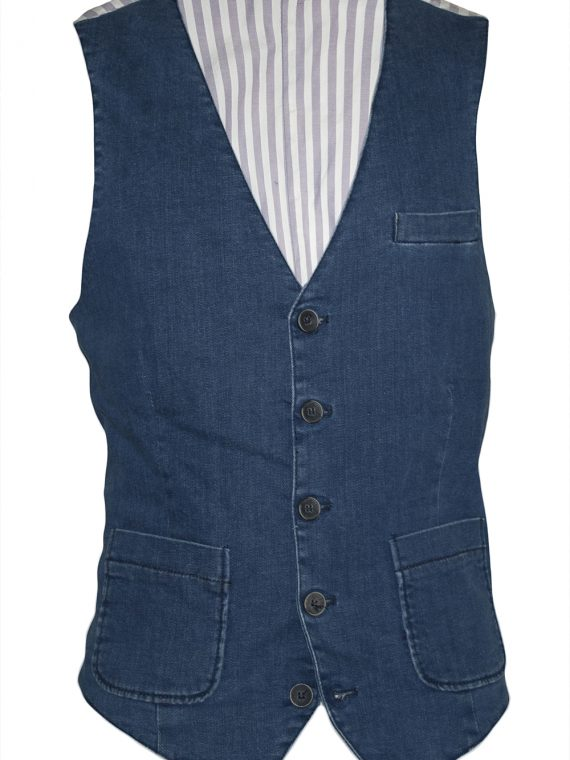 Gilet Uomo Denim Jeans cotone 1