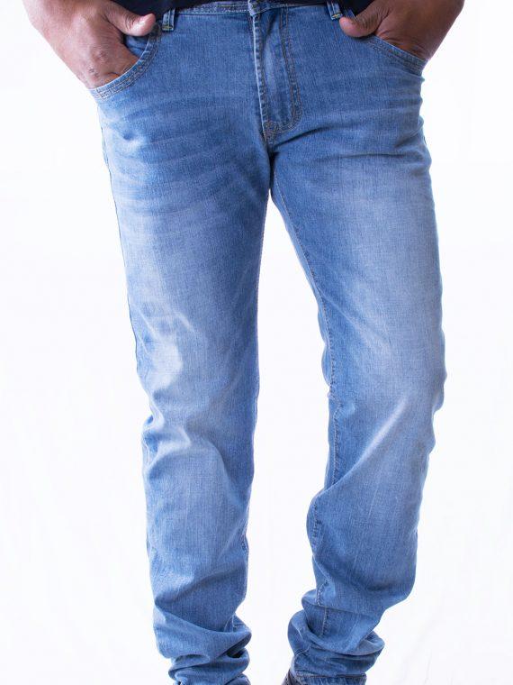 Pantalone Lungo Uomo leggero Jeans Denim chiaro Slim Fit 1