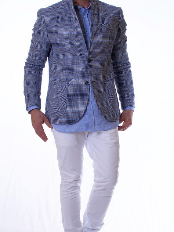 Pantalone Lungo Uomo twill Bianco Slim Fit