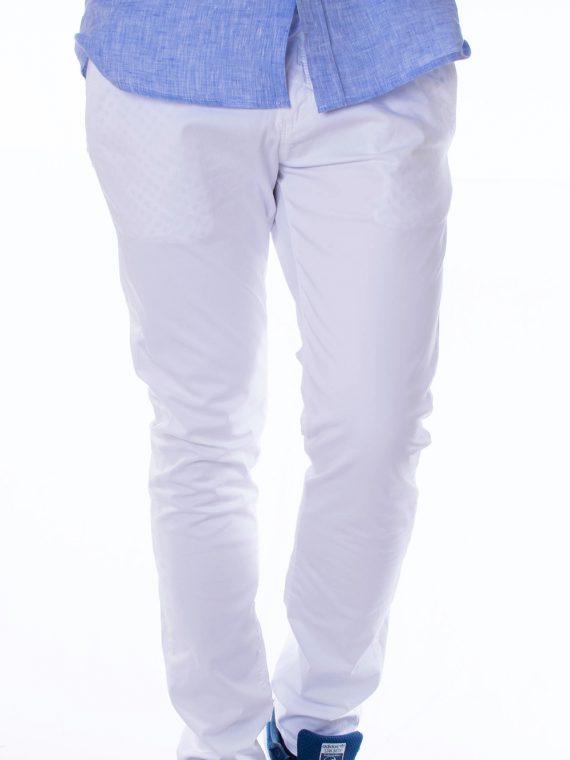 Pantalone Lungo Uomo twill Bianco Slim Fit 1