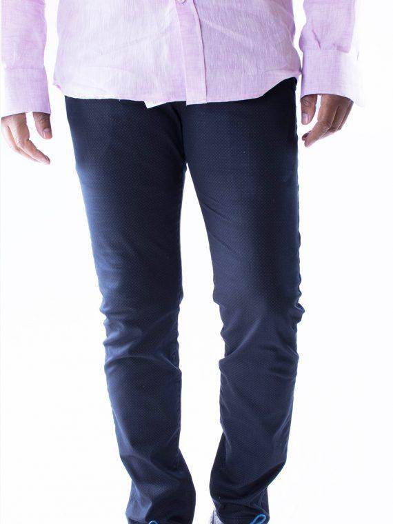 Pantalone Lungo Uomo leggero Blu Scuro Slim Fit 1