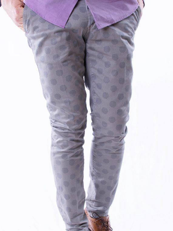 Pantalone Lungo Uomo leggero Tortora a Puoi Slim Fit 1
