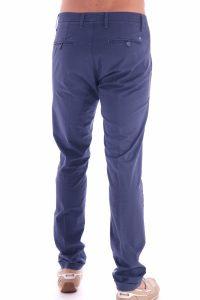 Pantalone taglio classico italiano made in italia blu (1)