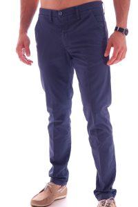 Pantalone taglio classico italiano made in italia blu (2)