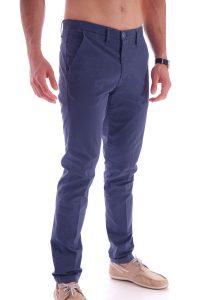 Pantalone taglio classico italiano made in italia blu (3)