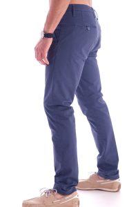 Pantalone taglio classico italiano made in italia blu (4)