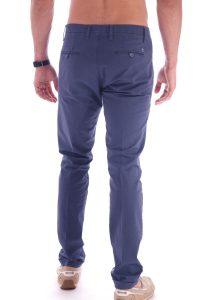 Pantalone taglio classico italiano made in italia blu (5)