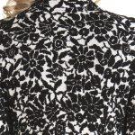 Spolverino Donna Bianco nero lana cashmere a Fiori
