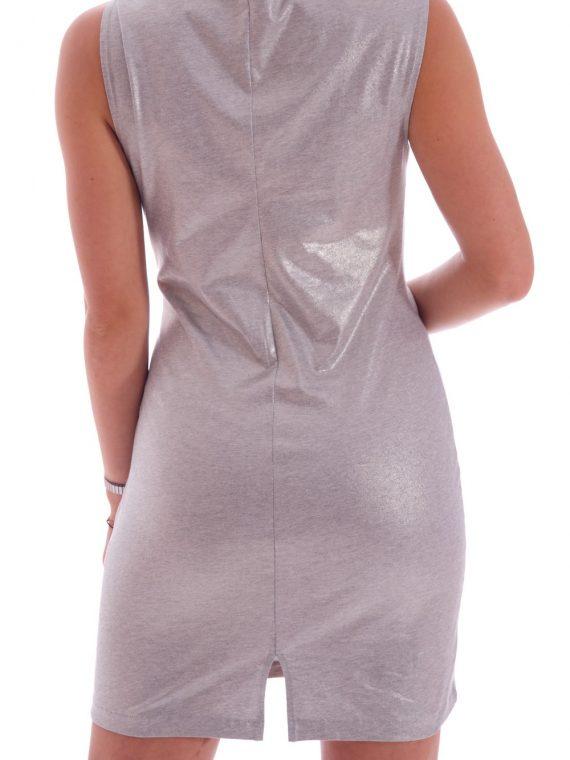 Vestito metalizzato donna cromato lucido (1)