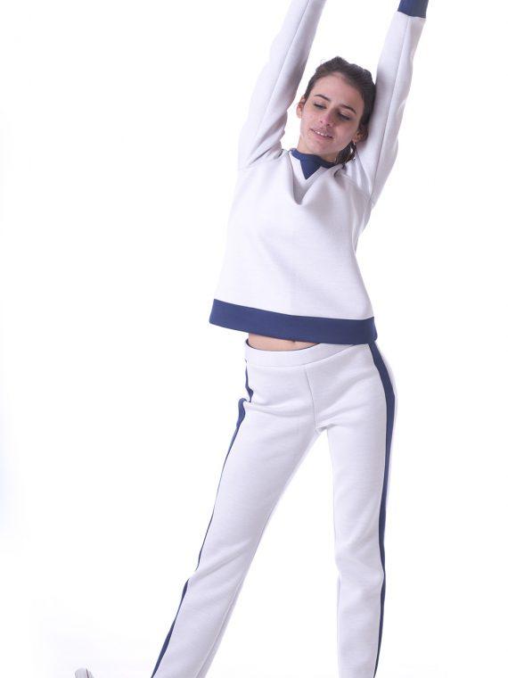 Pantalone donna neoprene bianco 1