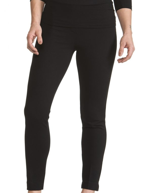 Pantalone Donna Nero viscosa pesante Linea Regular Fit 1