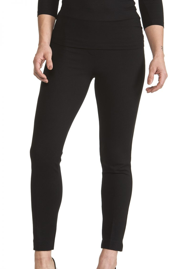 Pantalone Donna Nero viscosa pesante Linea Regular Fit