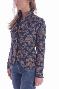 Giacca oro e blu donna (3)