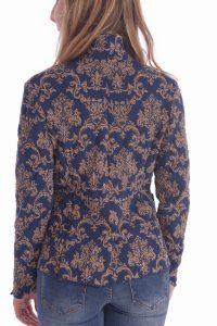Giacca oro e blu donna (4)