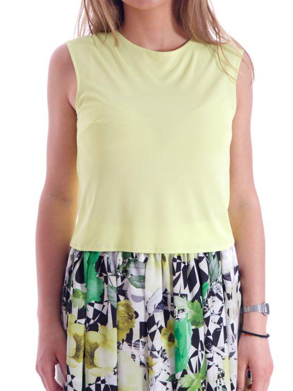 Smanicato giallo smanicata maglia (3)