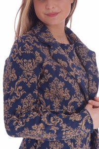 Vestito oro e blu elegante corto talier (10)