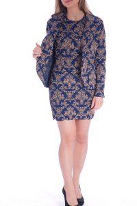 Vestito oro e blu elegante corto talier (13)