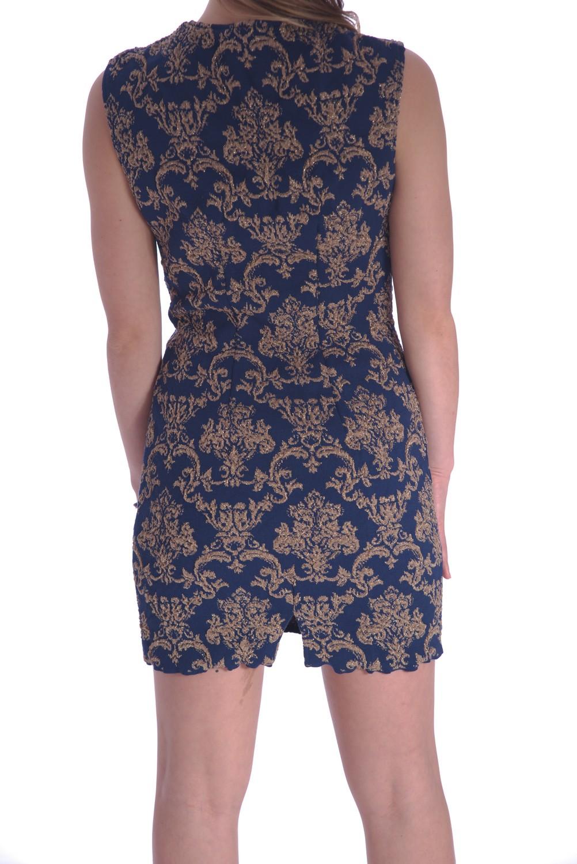 wholesale dealer ed19b 4092f Vestito a fantasie floreali oro su blu