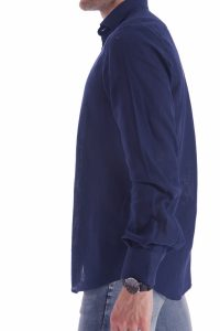 camicia lino blu italiana made in italy di qualità estate (3)