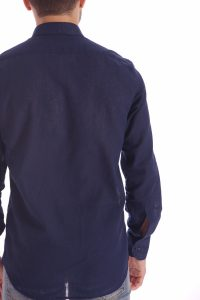 camicia lino blu italiana made in italy di qualità estate (4)