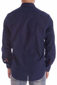 camicia lino blu italiana made in italy di qualità estate (5)