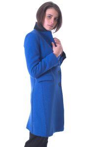 cappotto donna lungo bllu taglio vivo (3)