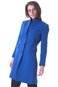 cappotto donna lungo bllu taglio vivo (4)